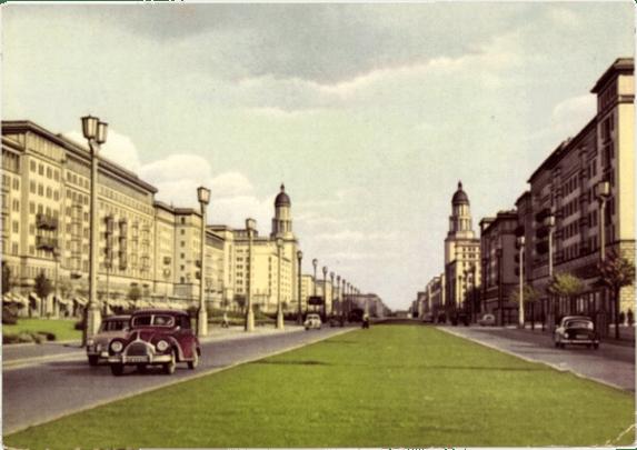 Stalinallee, Postkarte