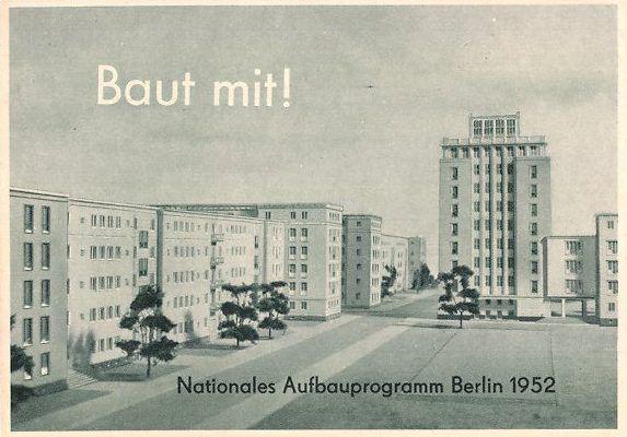 Weberwiese, Entwurf 1952