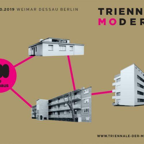 Triennale der Moderne 2019- Grafik: buschfeld.com (unter Verwendung von Fotos der Klassik-Stiftung Weimar und der Stiftung Bauhaus Dessau).
