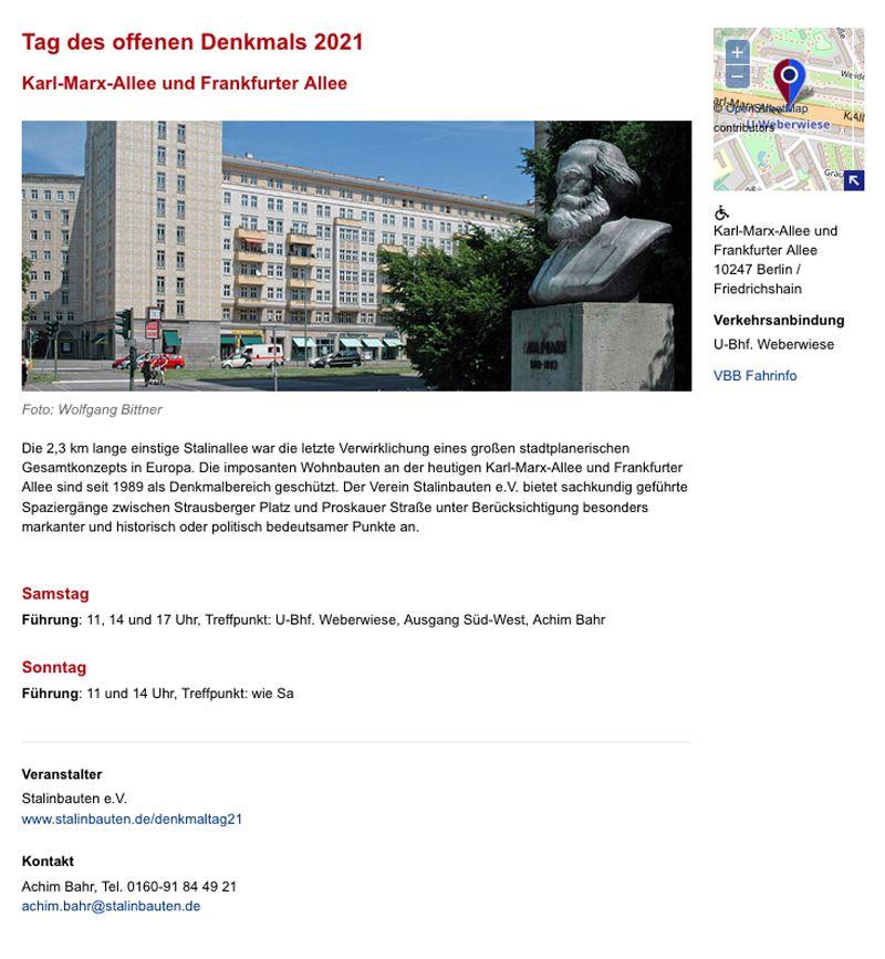 Tag des offenen Denkmals, Berlin 2021